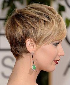 pixie frizurák, rövid frizurák 2015 - Jennifer Lawrence pixie frizura