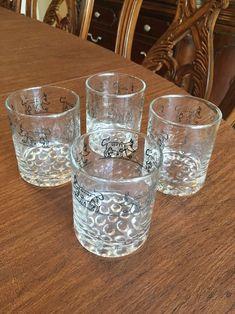 4 Pharmaceutical Libbey  Hardball Glasses Advertising B F Ascher Co Cows Rare  | eBay