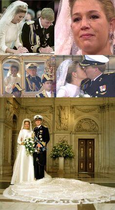 Wedding of Crown Prince Willem Alexander and Maxima Zorreguieta Cerruti, Amsterdam, February 2nd, 2002.