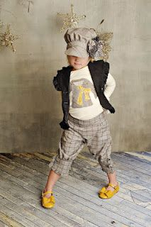 Persnickety fall 2012 Vintage Woodland Collection - This WHOLE outfit head to toe is one of our ALL TIME favorites!   Alice Vest - Grey  Basic Tee - Coat applique  Knickers - Grey Plaid  Newsboy Hat - Grey  Zaya Clip  (and YES Ma'am! we are offering these Joyfolie Mustard yellow shoes as well!)
