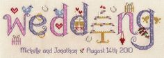 Wedding Sampler Kit - Nia Cross Stitch Sampler