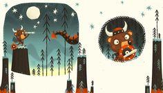 Dragún - Children's Book by Steve Simpson, via Behance