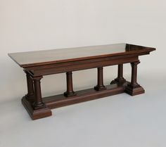 Italian Mahogany Refectory Table