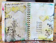 Magenta: Seeing Beauty in my Art Journal / Voir la beauté dans mon Art Journal