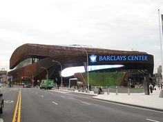 Monday night's basketball game between the Cleveland Cavaliers and the Brooklyn Nets at the Barclays Center. There are multiple entrances to the arena, as well as underground access. Brooklyn New York, Brooklyn Nets, New York City, Barclays Center, Hockey, Basketball, Volleyball, Nba Arenas, Shop Architects