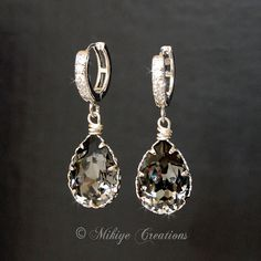 Bridal Chandelier Earrings Wedding Accessories by MikiyeCreations