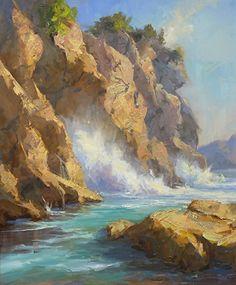 Coastal Colors by Bill Davidson Oil ~ 36 x 30