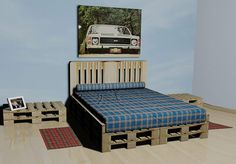 cama hecha de palets