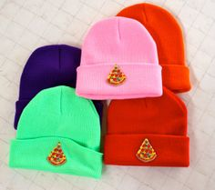 PIZZA PARTY Beanie by PenelopeMeatloaf on Etsy