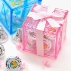 Plastic Baby Block Favor Boxes by Beau-coup