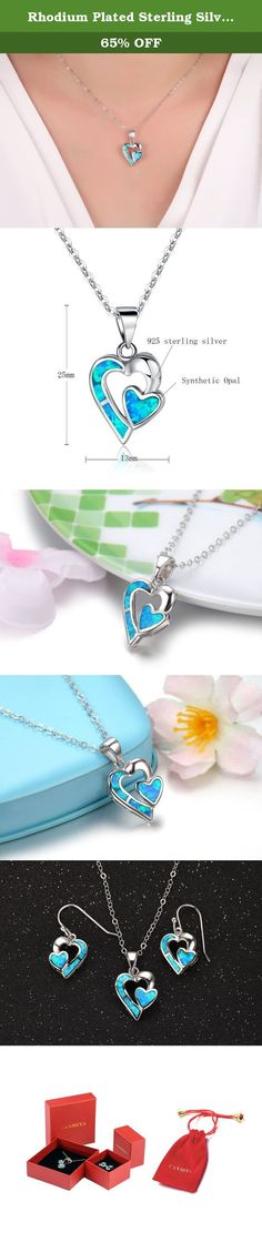 Rhodium Plated Sterling Silver Synthetic Blue Opal Soulmate Heart Pendant Necklace With 18inches Chain. Canmiya committed herself to providing perfect jewelry and top notch service. Just feel free to contact us when you need help. We are always here ready to help you! Sterling Silver History Experts believe that silver alloy, used today as sterling silver, originated in continental Europe in the 12th century. Pure silver was found to be a soft and easily damageable material. When combined...