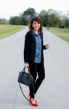 3 Ways To Dress Up A Denim Shirt | Cyndi Spivey