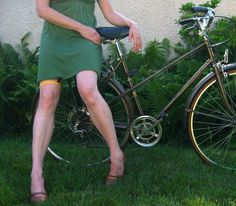 Awesome idea!  I always worry about my skirt flying up while riding my bike :)
