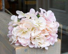 Silk-ka  Hortensia  tak Creme/roze Lengte: 79cm