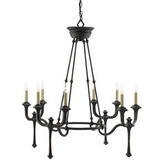 Currey company conversation chandelier (3,930 CAD) ❤ liked on Polyvore featuring home, lighting, ceiling lights, black ceiling lights, hanging chain lamps, black chandelier lighting, black chandelier lamp and black chandelier light