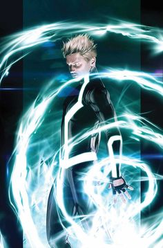 The idea of energy made visible is common in graphic novels //  Havok by Kaare Andrews