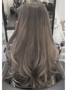 Long Ash Hair Color