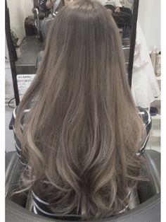 Long Ash Hair Color