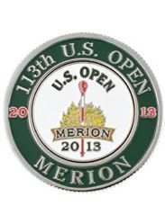2 sold yesterday! HOT item! Maybe fathers day gift? UNIQUE Merion Golf Club host of 2013 US OPEN 2 Sided Ball Marker Magnamark