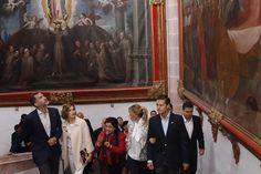 Don Felipe y Doña Letizia en la Escalera Regia del Museo Virreinal de Guadalupe Guadalupe. Zacatecas (Estados Unidos Mexicanos), 01.07.2015