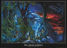 Lord of the Rings Great Journey 2001 Peter Pracownik Art Poster 25x36
