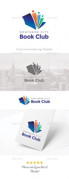 Book Club Logo Template Vector EPS, AI Illustrator. Download here: https://graphicriver.net/item/book-club-/17552775?ref=ksioks