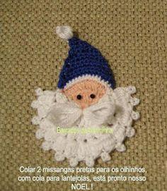 TUTORIAL Adorable free crochet Santa Christmas ornament or garland tutorial