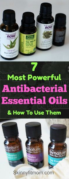 7 Most Powerful Antibacterial Essential Oils & How To Use Them- Learn how to use these amazing essential oils for antibacterial purposes