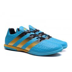 Adidas ACE 16.3 IN IC Football Boots Blue Gold Black Adidas Soccer Shoes,  Nike Football eb02c2e7679