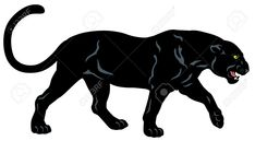 Illustration about Black panther, side view image isolated on white background. Illustration of pardus, white, wildlife - 38281094 Black Panther Drawing, Black Panther Cat, Black Panther Tattoo, Panther Logo, Black Panthers, Animal Sketches, Animal Drawings, Wild Panther, Panther Tattoos
