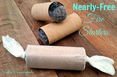 DIY  Nearly-Free Fire Starters - As the temperature drops this winter, it's a good idea to make sure you are well-stocked with kindling and firewood. (dryer lint, tp tubes and waxed paper)