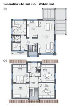 Grundriss Einfamilienhaus mit Pultdach 4 Zimmer