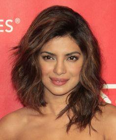 Priyanka Chopra Medium Wavy Hairstyle - Medium Brunette