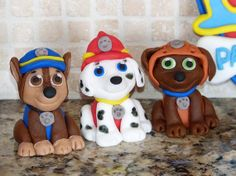 6 Paw Patrol inspired Cupcake/Cake Toppers by ArtCreationsbyLK, $11.00
