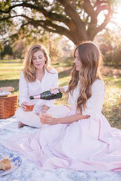 Gal Meets Glam Hampton Park Picnic - Isabel Marant top & MDS Stripes skirt