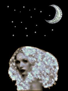 Mystique Star Goddess, Season Of The Witch, Female Bodies, Enchanted, Heaven, Moon, Stars, Inspiration, Ideas