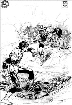 Green Lantern and Green Arrow  #77 Unused cover