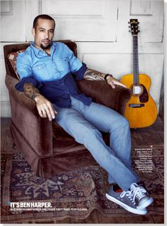 Ben Harper. Clipped from Esquire using Netpage.