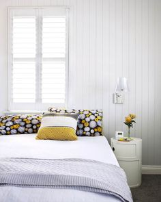 See the transformation of a small weatherboard Queenslander into a large contemporary family home with an under-house extension. Grown Up Bedroom, Dream Bedroom, Home Bedroom, Girls Bedroom, Bedrooms, Bedroom Retreat, Bedroom Inspo, Master Bedroom, Bedroom Shutters