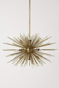 Lighting - A throwback to the nascent days of space exploration and the golden age of midcentury design, this spindly, twelve-bulb chandelier lends a dose of sixties cool . Decor, Satellite Chandelier, Lighting Inspiration, Lamp, Light Fixtures, Home Lighting, Lights, Light, Chandelier