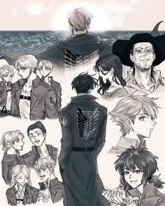 Levi X Petra, Levi And Erwin, Levi X Eren, Levi Ackerman, Sad Anime, Anime Manga, Anime Art, Attack On Titan Funny, Attack On Titan Fanart