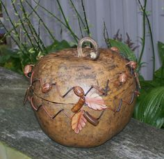 GOURD BOWL WITH Lid    I love this gorgeous gourd!