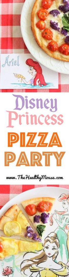 Disney Princess Pizza Party - Celebrate National Pizza Party Day with vegetarian Disney princess inspired pizzas! #NationalPizzaPartyDay #DisneyPrincessParty #DisneyFamily