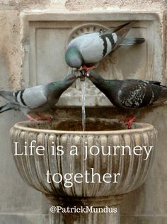 Life is a journey together...