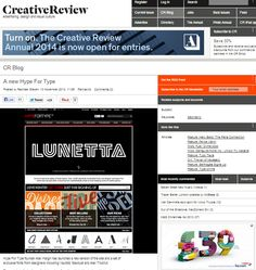 Creative Review feature #Lunetta A new typeface created by #Sawdust Studio