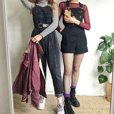 Ideas for vintage style outfits grunge hipster Hipster Outfits, Tumblr Outfits, Edgy Outfits, Retro Outfits, Grunge Outfits, Vintage Style Outfits, Artsy Outfits, Hipster Style, Fashion 90s