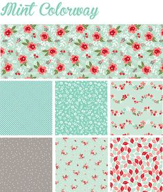 Sweet Prarie - Mint Colorway- Down Grapevine Lane