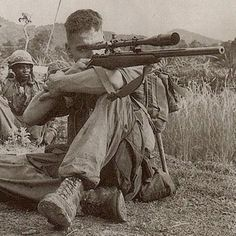 Vietnam war - Carlos Hathcock was a United States Marine Corps Gunnery Sergeant sniper with a service record of 93 confirmed kills.