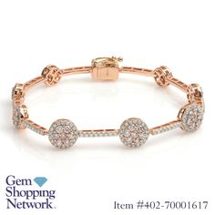 Pink Diamond & White Diamond Bracelet. Find the perfect accessory or just make a statement with exquisite rings, bracelets, necklaces, earrings, and more. Tune in to Gem Shopping Network to see more spectacular gemstones and jewelry 24/7. Item #402-700016171.39 ctw Pink Diamond Round & 1.19 ctw Diamond Round 14K 2 Tone Gold Bracelet Length 7