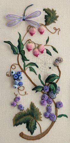 Wonderful Ribbon Embroidery Flowers by Hand Ideas. Enchanting Ribbon Embroidery Flowers by Hand Ideas. Brazilian Embroidery Stitches, Types Of Embroidery, Learn Embroidery, Japanese Embroidery, Silk Ribbon Embroidery, Crewel Embroidery, Cross Stitch Embroidery, Embroidery Tattoo, Embroidery Needles
